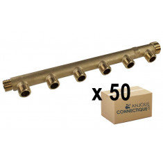 """Lot de 50 x Collecteurs mâle femelle 3/4"""" - 6 départs 1/2"""" (15/21) - Entraxe 50mm - Arcanaute"""