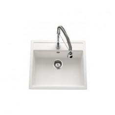 Évier de cuisine Cristalite Gain de Place - 570 x 510 x 180 mm - sous-meuble 60 cm - Coloris Alpina - Schock