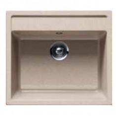 Évier de cuisine Cristalite Gain de Place - 570 x 510 x 180 mm - sous-meuble 60 cm - Coloris Terra - Schock