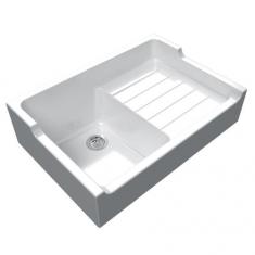 Évier de cuisine à poser blanc IMPERIAL - L 900 x l 610 x P 240 mm - sous-meuble 90 cm - Aquatop