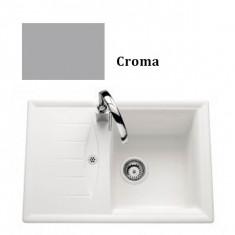 Évier de cuisine Cristalite Gain de place - 680 x 460 x 196 mm - sous-meuble 45 cm - Coloris Croma - Schock