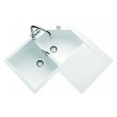 Évier de cuisine d'angle Cristalite PRIMUS - L 840 x l 840 x P 195 mm - sous-meuble de 90 cm - Alpina