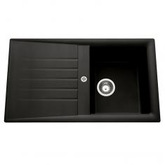 Évier de cuisine noir SLAVE - L 860 x l 500 x P 185 mm - sous-meuble 45 cm - Aquatop