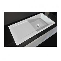 Évier de cuisine Cristalite épuré - 1000 x 500 x 181 mm - sous-meuble 60 cm - Coloris Alpina - Schock