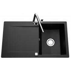 Évier de cuisine Cristalite EPURE - L 860 x l 500 x P 181 mm - Nero