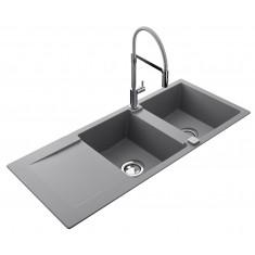 Évier de cuisine Cristalite EPURE - L 1160 x l 500 x P 181 mm - sous-meuble 80 cm - Croma