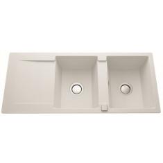 Évier de cuisine Cristalite EPURE - L 1160 x l 500 x P 181 mm - sous-meuble 80 cm - Alpina