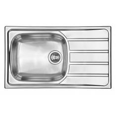 Évier de cuisine Inox mini-structure Montebello avec grand bac - L 860 x l 500 X P 160 mm - sous-meuble de 60 cm - Aquatop
