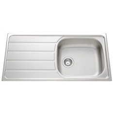 Évier de cuisine en Inox mini-structure Montebello - L 1000 x l 500 x P 160 mm - sous-meuble 60 cm - Aquatop