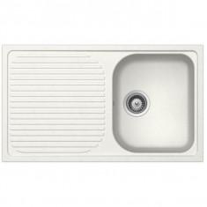 Évier de cuisine Cristalite Scandinave - 1000 x 500 x 220 mm - sous-meuble 60 cm - Coloris Alpina - Schock