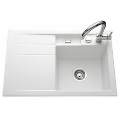 Évier de cuisine polaris BELA - égouttoir à droite - L 780 x l 510 x P 200 mm - sous-meuble 45 cm - Aquatop