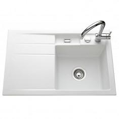 Évier de cuisine polaris mat BELA égouttoir à gauche - L 780 x l 510 x P 200 mm - sous-meuble 45 cm - Aquatop
