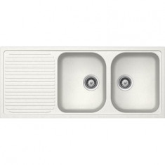 Évier de cuisine Cristalite Scandinave - 1160 x 500 x 205 mm - sous-meuble 80 cm - Coloris Alpina - Aquatop