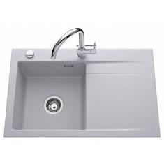 Évier de cuisine Aluminium - égouttoir à gauche - sous-meuble 50 cm - L 800 x l 510 x P 200 mm - Aquatop