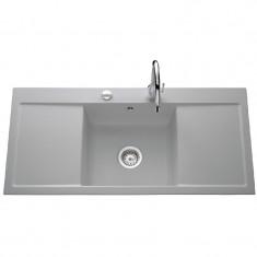 Évier de cuisine aluminium mat FIRST CLASS - L 1060 x l 510 x P 200 mm - sous-meuble 50 cm - Aquatop