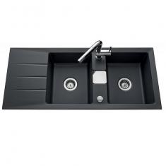 Évier de cuisine Céramique gris anthracite - L 1160 x l 510 x P 200 mm - sous-meuble 90 cm - Aquatop