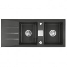 Évier de cuisine nigra GENEA - L 1160 x l 510 x P 200 mm - sous-meuble 90 cm - Aquatop
