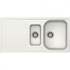 Évier de cuisine Cristalite Scandinave - 1000 x 500 x 205 mm - sous-meuble 60 cm - Coloris Alpina - Schock