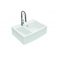 Évier de cuisine à poser en quartz MAJESTIC - L 880 x l 652 x P 245mm - Blanc