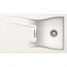 Évier de cuisine Cristadur Waterfall - 860 x 500 x 184 mm - sous-meuble 50 cm - Coloris Polaris - Schock