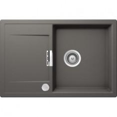 Évier de cuisine Cristadur Mono - 765 x 510 x 195 mm - sous-meuble 50 cm - Coloris Gris Perle - Schock