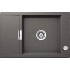 Évier de cuisine Cristadur Mono - 780 x 510 x 195 mm - sous-meuble 60 cm - Coloris Gris Perle - Schock