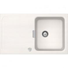 Évier de cuisine Cristadur Wembley - 860 x 510 x 200 mm - sous-meuble 50 cm - Coloris Polaris - Schock