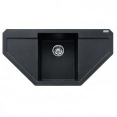 Evier d'angle MARIS MRG612E Graphite (sous meuble Angle 90cm) 960x500x190mm