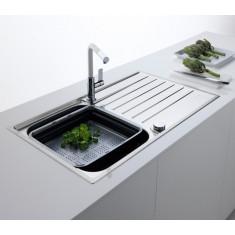 Evier de cuisine Franke ARGOS 211-100 INOX ET MICRODEKOR® - 1000*510mm