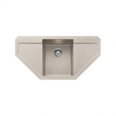 Evier d'angle MARIS MRG612E Platinum (sous meuble Angle 90cm) 960x500x190mm