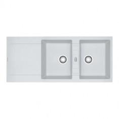 Evier MARIS FRAGANIT MRG621 Blanc Artic (sous meuble 90cm) 1160x500x205mm