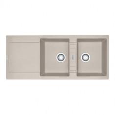 Evier MARIS FRAGANIT MRG621 Café Crème (sous meuble 90cm) 1160x500x205mm