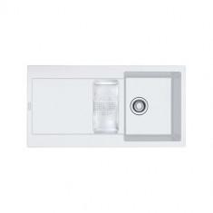 Evier MARIS FRAGANIT MRG651 Blanc Artic (sous meuble 60cm) 970x500x205mm