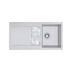 Evier MARIS FRAGANIT MRG651 Platinium (sous meuble 60cm) 970x500x205mm