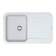 Evier PEBEL FRAGANIT PEG611-78 Blanc Artic (sous meuble 45mm) 780x500x200mm