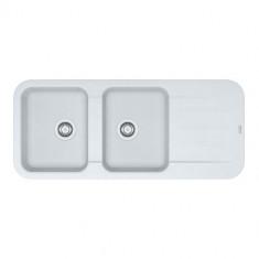 Evier PEBEL FRAGANIT PEG621 Blanc Artic (sous meuble 80mm) 1160x500x200mm