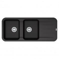 Evier PEBEL FRAGANIT PEG621 Onyx (sous meuble 80mm) 1160x500x200mm