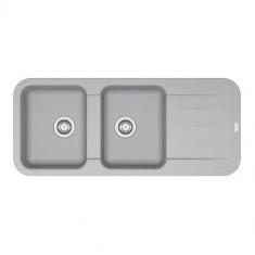 Evier PEBEL FRAGANIT PEG621 Platinum (sous meuble 80mm) 1160x500x200mm