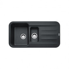 Evier PEBEL FRAGANIT PEG651 Onyx (sous meuble 60mm) 970x500x200mm