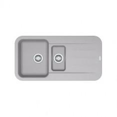 Evier PEBEL FRAGANIT PEG651 Platinum (sous meuble 60mm) 970x500x200mm