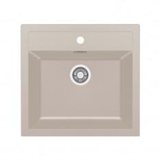 Evier SIRIUS SID610-560 Café Crème (sous meuble 60cm) 560x530x200mm