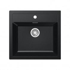 Evier SIRIUS SID610-560 Carbone (sous meuble 60cm) 560x530x200mm