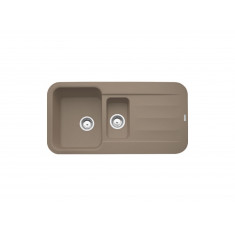 Evier PEBEL FRAGANIT PEG651 Oyster (sous meuble 60mm) 970x500x200/130mm
