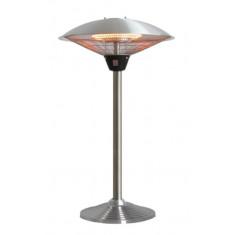 Parasol chauffant électrique de table MILAN DE TABLE en inox brossé