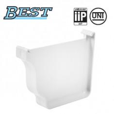Fond de gouttière droite/gauche PVC BEST - Blanc