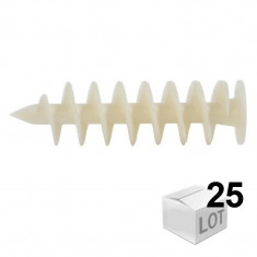 25 chevilles FID 90mm pour fixation dans les isolants PSE et PU