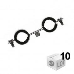 10 Colliers de fixation Atlas double isophonique Ø12 ou Ø14 ou Ø16 ou Ø18 ou Ø22 - Fischer