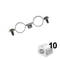 10 Colliers de fixation Atlas double - Ø12 à Ø22 - DISPONIBLE en 5 MODÈLES