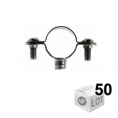 Lots de 50 Colliers de fixation Atlas simple - Ø32 ou Ø35 ou Ø40 - FISCHER