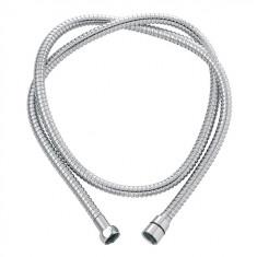 Flexible Métal laiton chromé double agrafage anti-torsion 1,75 m - Wirquin Pro 60720619